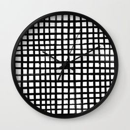 Hand-painted Grid Wall Clock