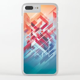 Future Cityscape Clear iPhone Case