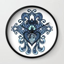 Ethnic decorative ornament. Wall Clock