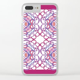 Gender Equality Tiled - Raspberry Purple Clear iPhone Case