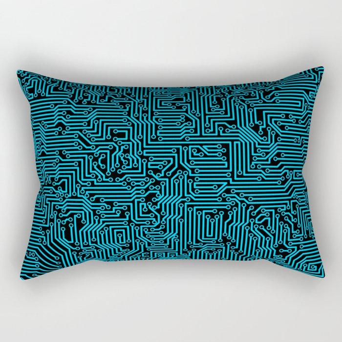 Reboot BLUE Rectangular Pillow