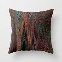 illusion Throw Pillows featuring Illusion by Marianna Shomero
