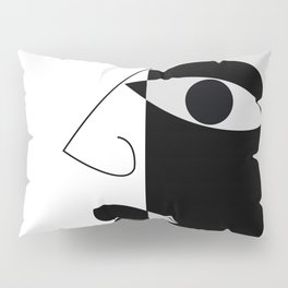 Black and white face Pillow Sham