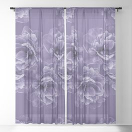 Ultra Violet Peony Flower Bouquet #1 #floral #decor #art #society6 Sheer Curtain