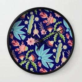 Night Blooms Wall Clock