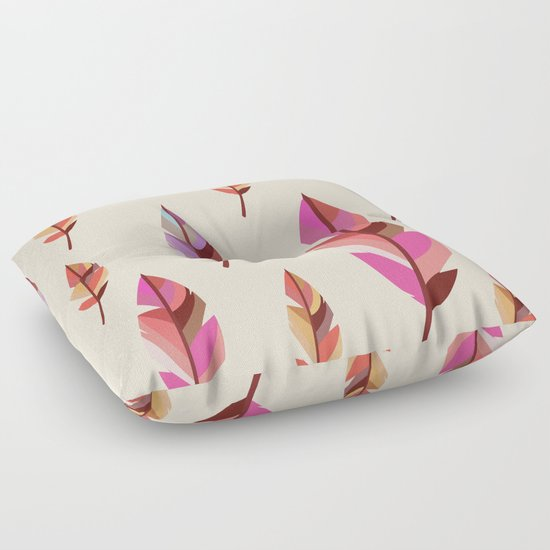 Feathers2 #society6 Floor Pillow by 83 Oranges Society6