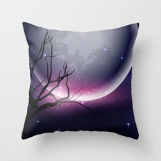 Face of the Moon Throw Pillow