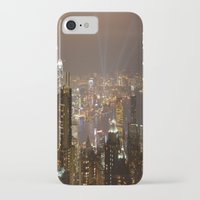 hong kong iPhone & iPod Cases featuring Hong Kong by Annie Lynch