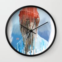 steve zissou Wall Clocks featuring Steve Zissou by Swancowski