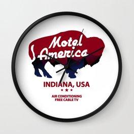 motel america Wall Clock