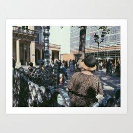 #ParisPostcards || La Parisienne Art Print
