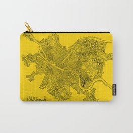 Pittsburgh Neighborhoods | Black and Gold Carry-All Pouch