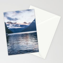 Milford Sound over night cruise at beautiful Harrison Cove Stationery Cards