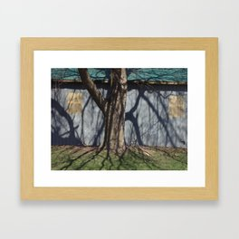 trunk shadow Framed Art Print