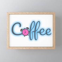 Coffee Clock Framed Mini Art Print