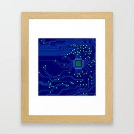 Electronics board Framed Art Print
