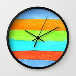 Watercolor Stripes - T-shirt Colors Wall Clock