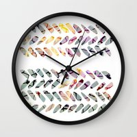 the strokes Wall Clocks featuring others strokes by clemm
