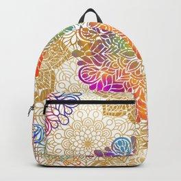 Beautiful Colorful Bohemian Mandala Pattern Backpack