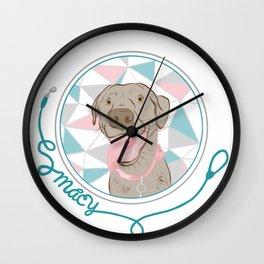 Macy the Lab Wall Clock