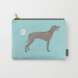 weimaraner funny farting dog breed pure breed pet gifts Carry-All Pouch