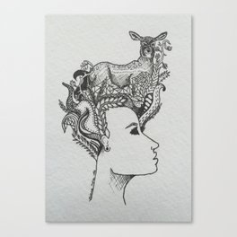 le biche Canvas Print