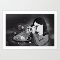 universe Art Prints featuring Universe by Manca Flajs