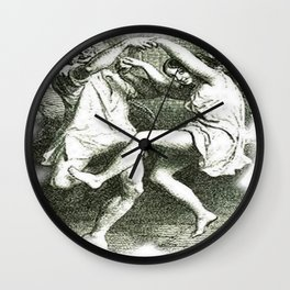 Tam O'Shanter Vector With White Background Wall Clock
