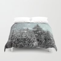 snow Duvet Covers featuring Snow by Pure Nature Photos