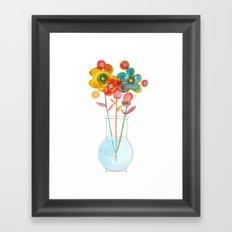 tiny vase Framed Art Print