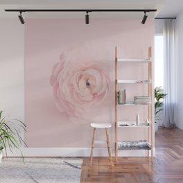 Pink Floral Nursery Soft Ranunculus Wall Mural