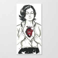 If I had a heart. Canvas Print