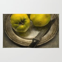 Still life with yellow quinces Rug