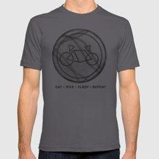 Eat • Bike • Sleep • Repeat Mens Fitted Tee Asphalt LARGE
