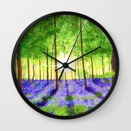 Bluebell woods Wall Clock