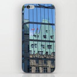 Maple leaf mirror Ottawa iPhone Skin