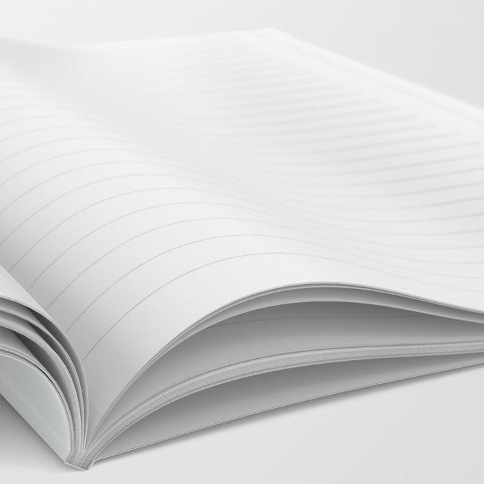 Minimalist ocean waves Notebook