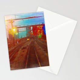 The Past Train 4 Stationery Cards