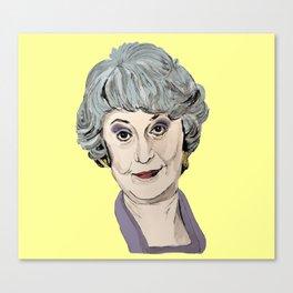 Dorothy Zbornak from The Golden Girls (Yellow) Canvas Print