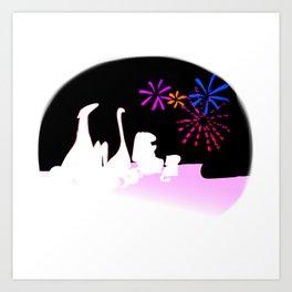 Fireworks in August Art Print