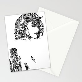 Kanji Calligraphy Art :woman's face #24 Stationery Cards