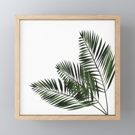 Tropical Exotic Palm Leaves I Framed Mini Art Print
