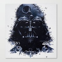 darth vader Canvas Prints featuring Darth Vader by qualitypunk
