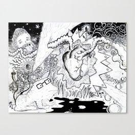 heart of magic Canvas Print