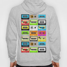 Retro 80s Cassette Tape Pattern Hoody