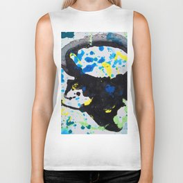 medusa abstract paint Biker Tank