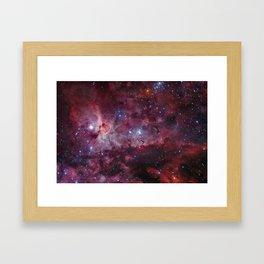 Carina Nebula of the Milky Way Galaxy Framed Art Print