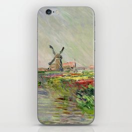 Monet, Tulip Field in Holland, 1886 iPhone Skin