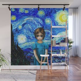 The Eyes Starry Night Wall Mural