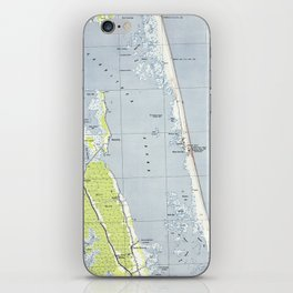 Vintage Northern Outer Banks Map (1940) iPhone Skin